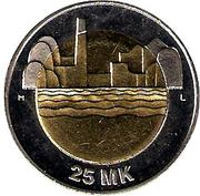 25 Markkaa  80e anniversaire de l'indépendance de la Finlande – revers
