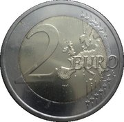2 euros Parlement de 1863 – revers