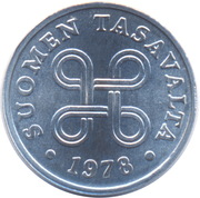 1 penni -  avers
