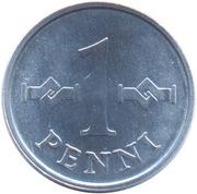 1 penni – revers