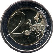 2 euros Frans Eemil Sillanpää – revers