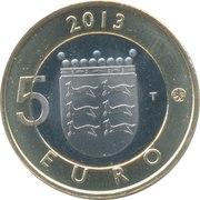 5 euros Maison traditionnelle d'Ostrobotnie – revers
