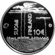 10 euros F. E. Sillanpää – avers