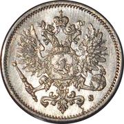 25 penniä - Nicholas II – avers