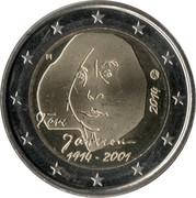 2 euros Tove Jansson -  avers