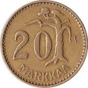 20 markkaa – revers