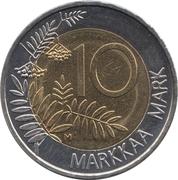 10 markkaa (Présidence de l'UE) – revers