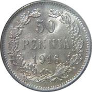 50 penniä - Alexandre II – revers