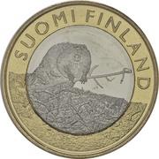 5 euros Le castor en Satkunta – avers