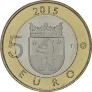 5 euros Le castor en Satkunta – revers