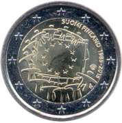 2 euros Drapeau européen – avers