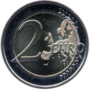 2 euros Drapeau européen – revers