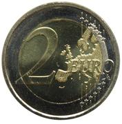 2 euros Jean Sibelius – revers