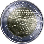 5 euros Indépendance de la Finlande – avers
