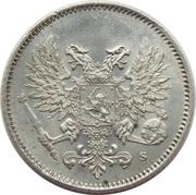 25 penniä - Nicolas II (Guerre civile) – avers