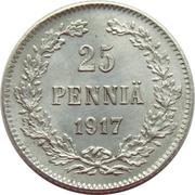 25 penniä - Nicholas II (Guerre civile) – revers
