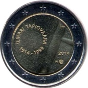 2 euros Ilmari Tapiovaara – avers