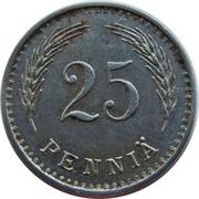 25 penniä – revers