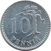 10 penniä -  revers