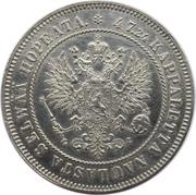 2 markkaa - Alexandre II / Nicolas II – avers
