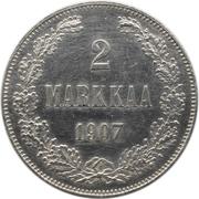 2 markkaa - Alexandre II / Nicolas II – revers