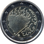 2 euros Eino Leino – avers