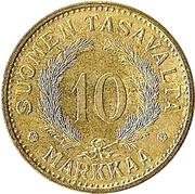 10 markkaa -  revers