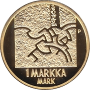 1 markka Le mark – revers