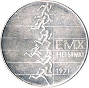 10 markkaa (Championnat d'Europe d'athlétisme) – avers
