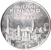 10 markkaa (Championnat d'Europe d'athlétisme) -  revers