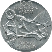 100 Markkaa - Pictorial Arts of Finland – revers