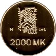2000 markkaa Paix – revers