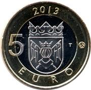 5 euros Cathédrale de Turku en Finlande du Sud-Ouest – revers