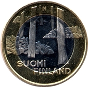5 euros Sammallahdenmäki en Satkunta – avers