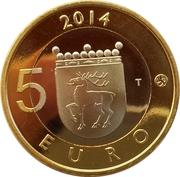 5 euros Le pygargue à queue blanche en Åland – revers
