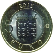 5 euros L'hermine d'Ostrobotnie – revers
