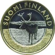 5 euros Les rennes de Laponie – avers