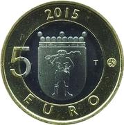 5 euros Les rennes de Laponie – revers