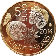 5 euros Nature sauvage – avers