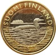 5 euros Le Plongeon huard en Savonie – avers