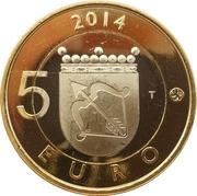 5 euros Le Plongeon huard en Savonie – revers