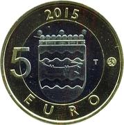 5 euros Le hérisson en Uusimaa – revers