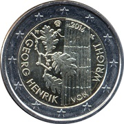 2 euros Georg Henrik von Wright – avers