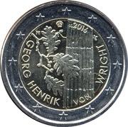 2 euros Georg Henrik von Wright -  avers