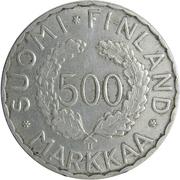 500 markkaa Jeux Olympiques – revers