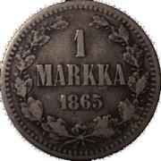1 Markka - Alexandre II (lettres larges) – revers
