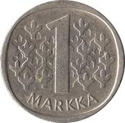 1 markka (cupronickel) – revers