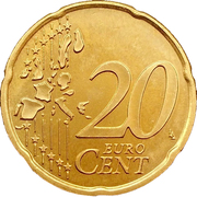 20 cents d'euro (1er type, 1ère carte) – revers