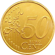 50 cents d'euro (1er type, 1ère carte) – revers