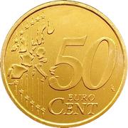 50 cents d'euro (1er type, 1ère carte) -  revers
